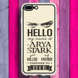 Funda Iphone 8 Plus arya stark frases